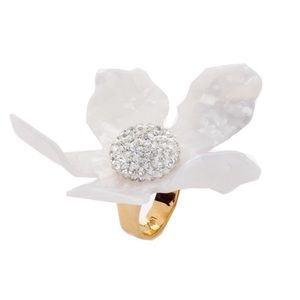 Brand new Anthro Lele Sadoughi crystal lily ring